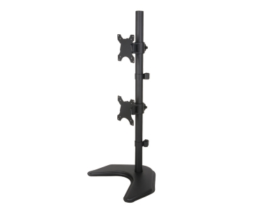 "Desk stand for 2 LCD 13""-27"", vertical"