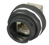 IP68 Receptacle for keystone modules and adapters